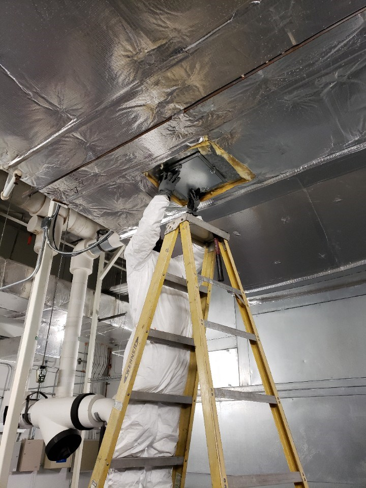 mold removal from air vents at a commercial property in floida