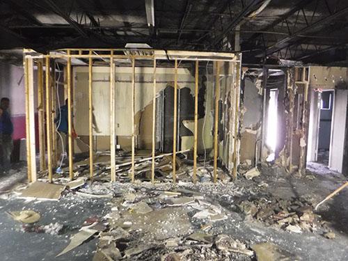 fire damage in florida before restoration and repair