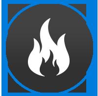 fire damage restoration logo