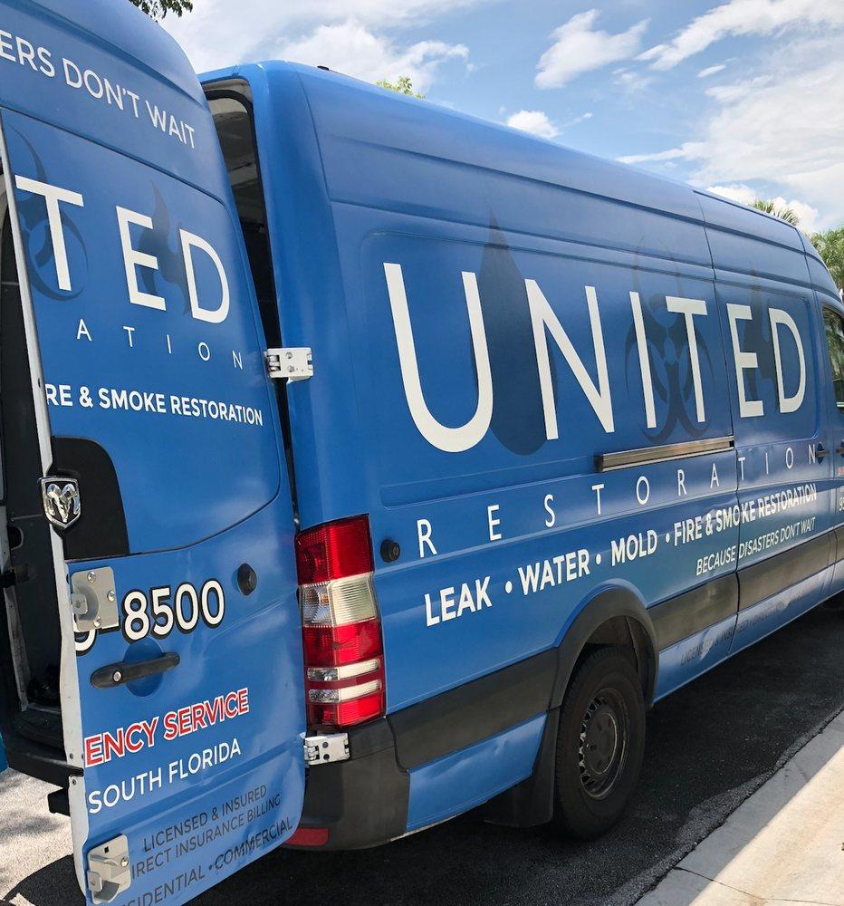 united restoration of florida water restoration truck