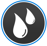 water damage restoration logo