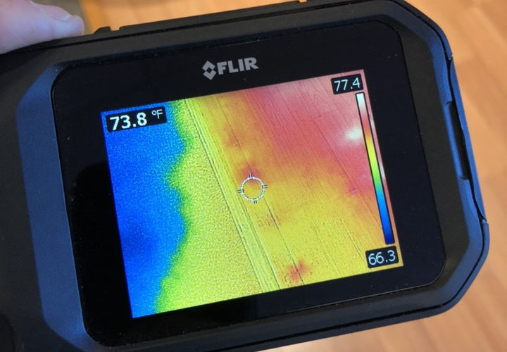 water damage assessment thermal imaging device