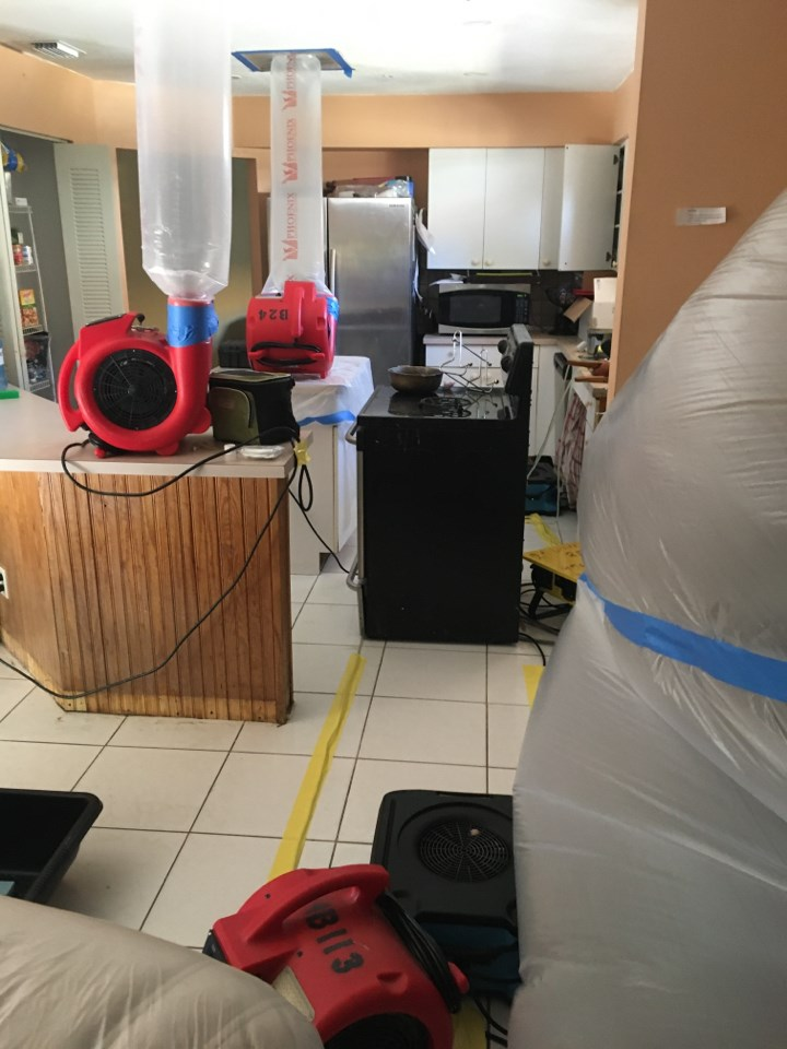 water damage restoration drying in miami