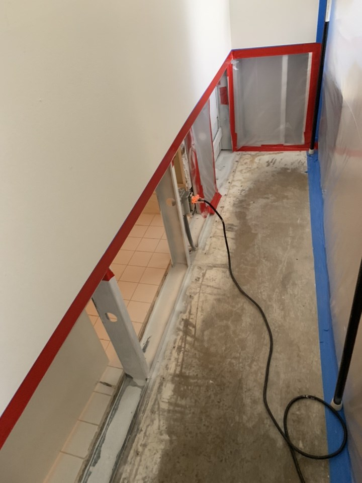 water damage restoration containments in miami home