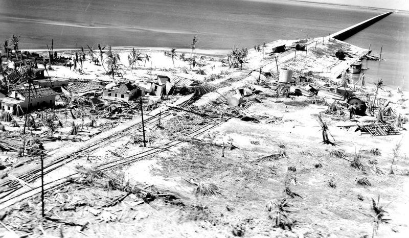hurricane damage on florida keys 1935