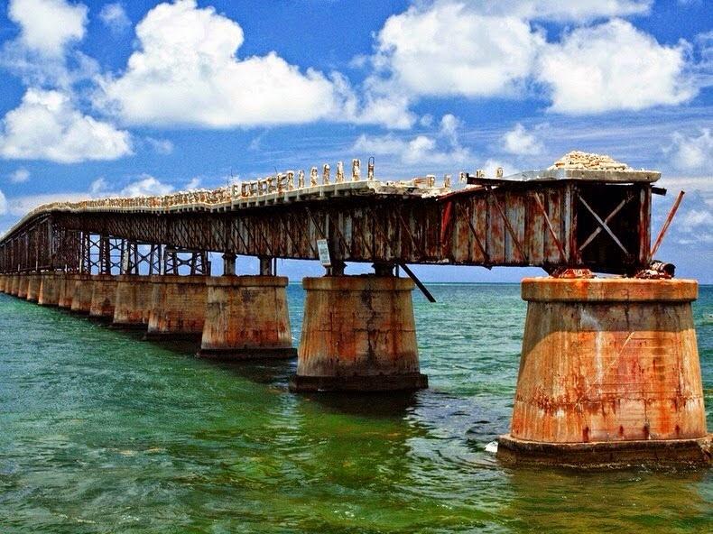 abandoned rail bridge in florida keys