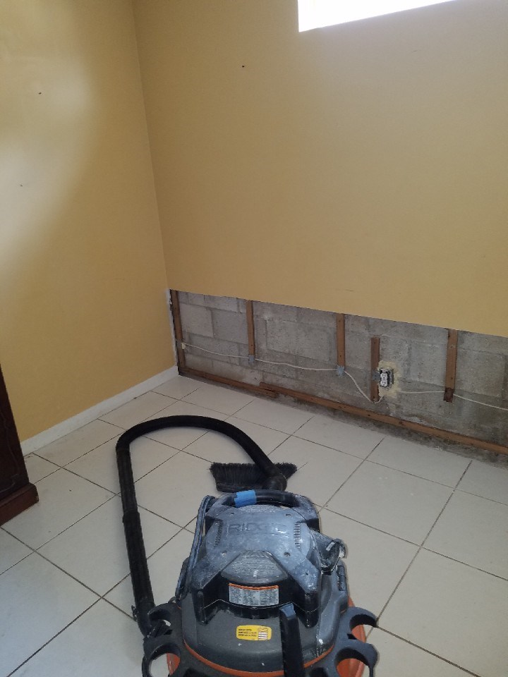 water damage repair in progress in coconut creek florida