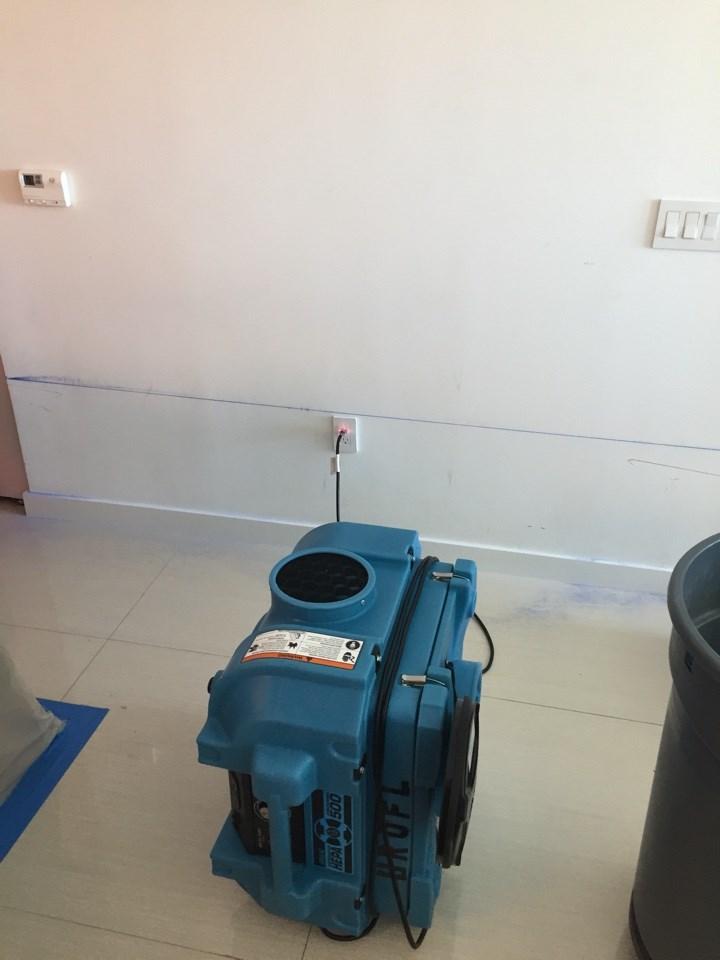 water damage drying equipment in davie florida home
