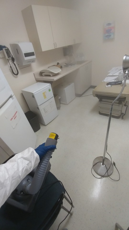 united restoration technician fogging medical environment