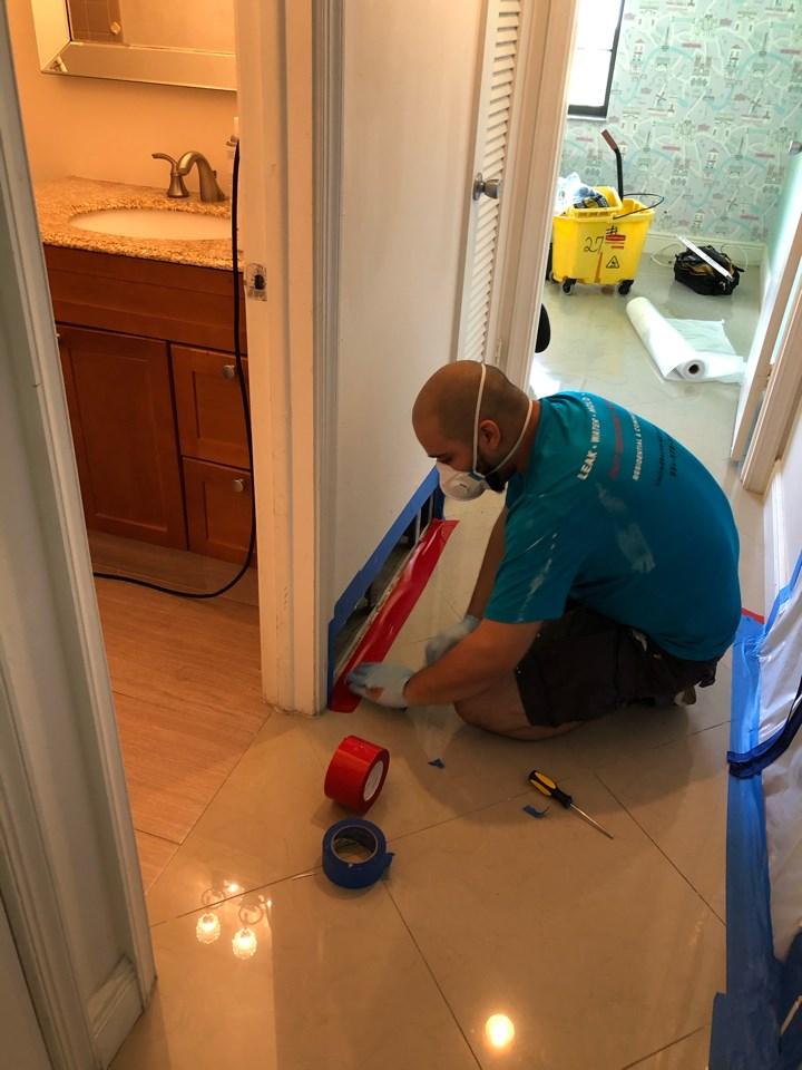 water damage repair technician in boca raton home
