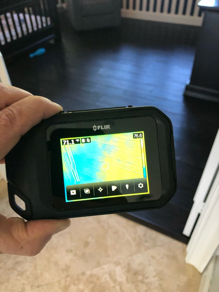 infrared water detection inspecting home in parkland florida