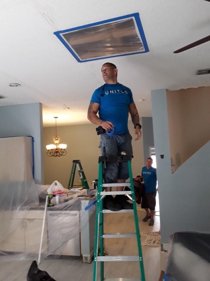 water damage repair in a west palm beach florida home