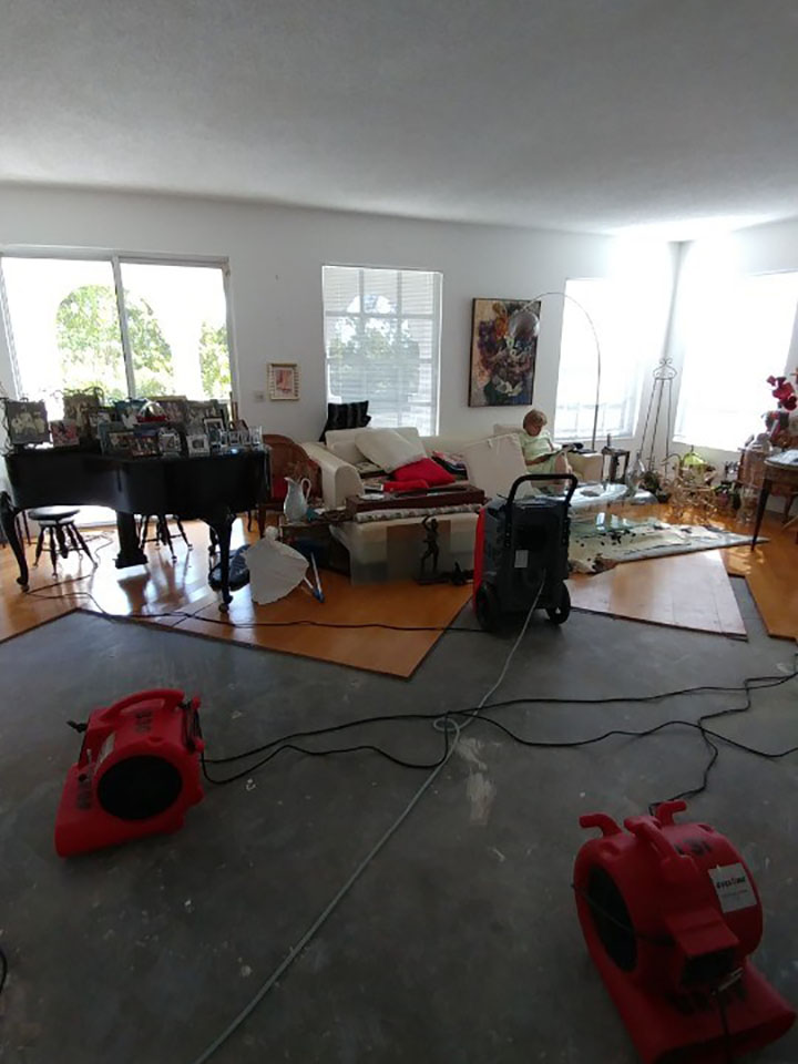 water damage drying in weston florida home
