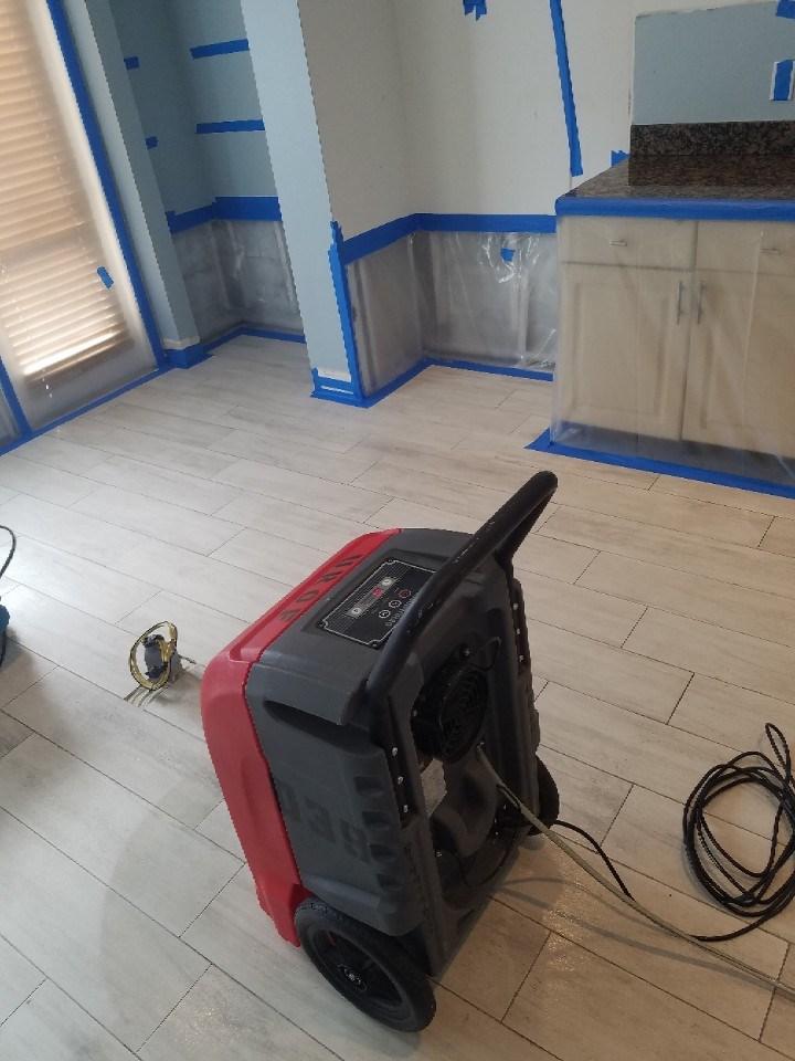 water damage drying machine in west palm beach florida kitchen