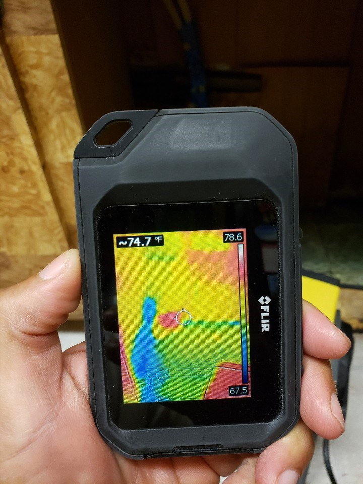 thermal imaging identifying water damage in a fort lauderdale florida home