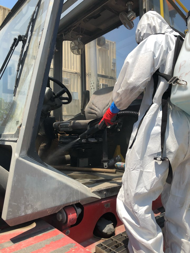 air fogging commercial vehicle for covid-19