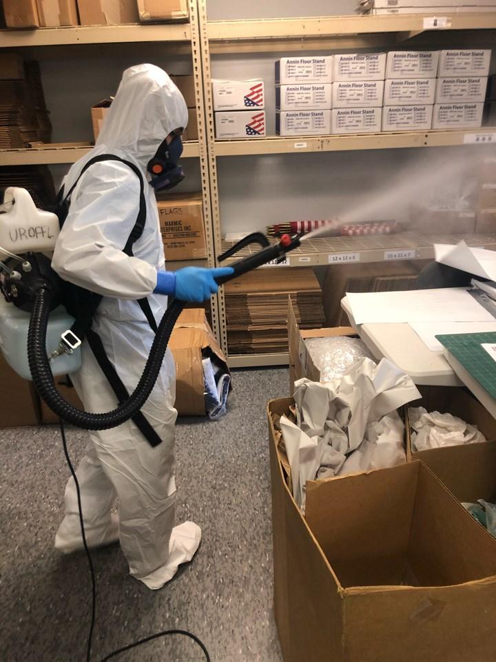 air fogging for coronavirus in florida warehouse