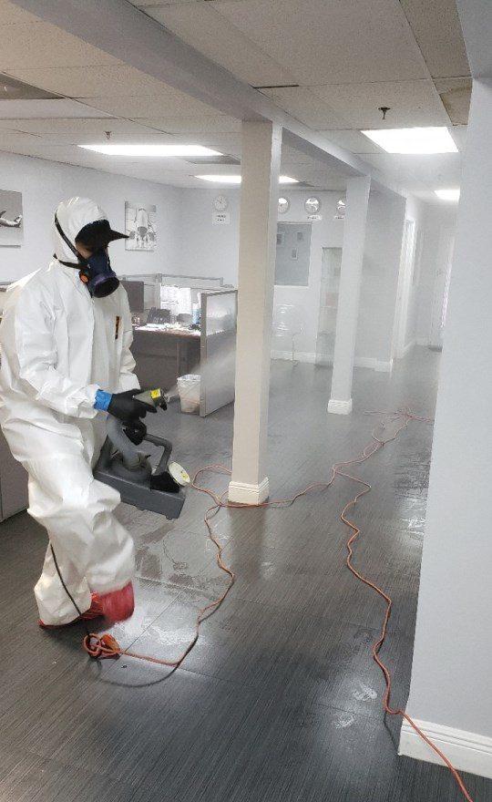 fogging an office in florida for coronavirus