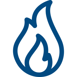 fire damage restoration icon