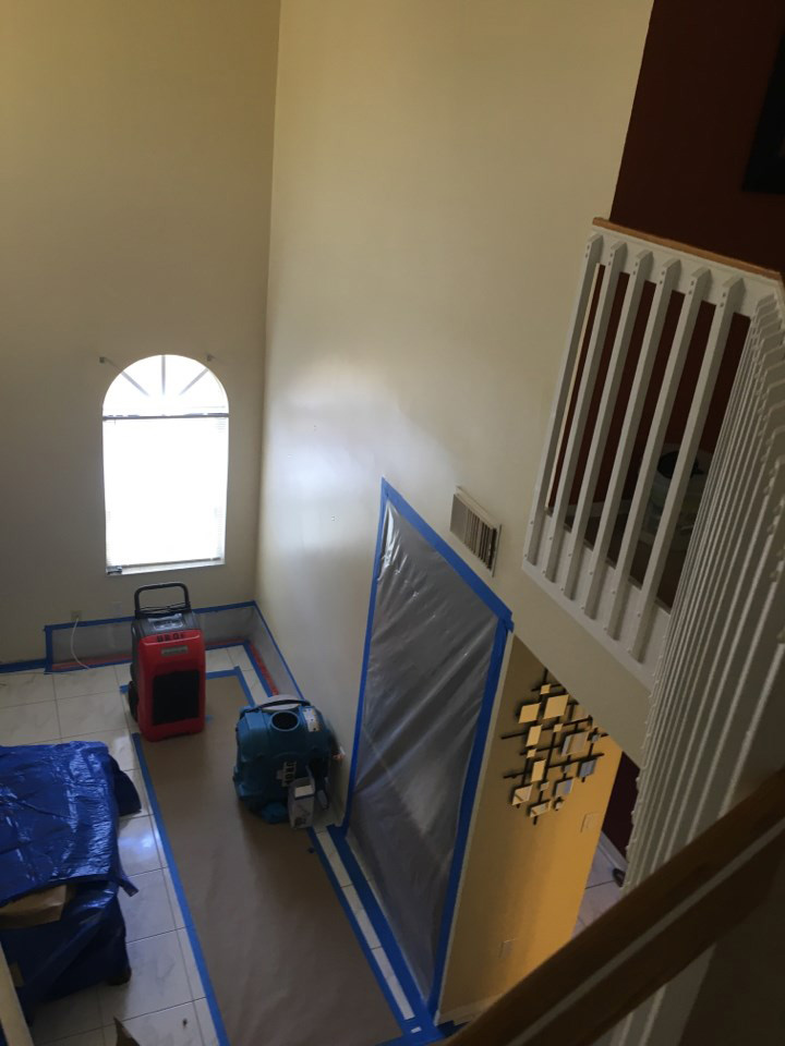 water damage restoration equipment in a pembroke pines home