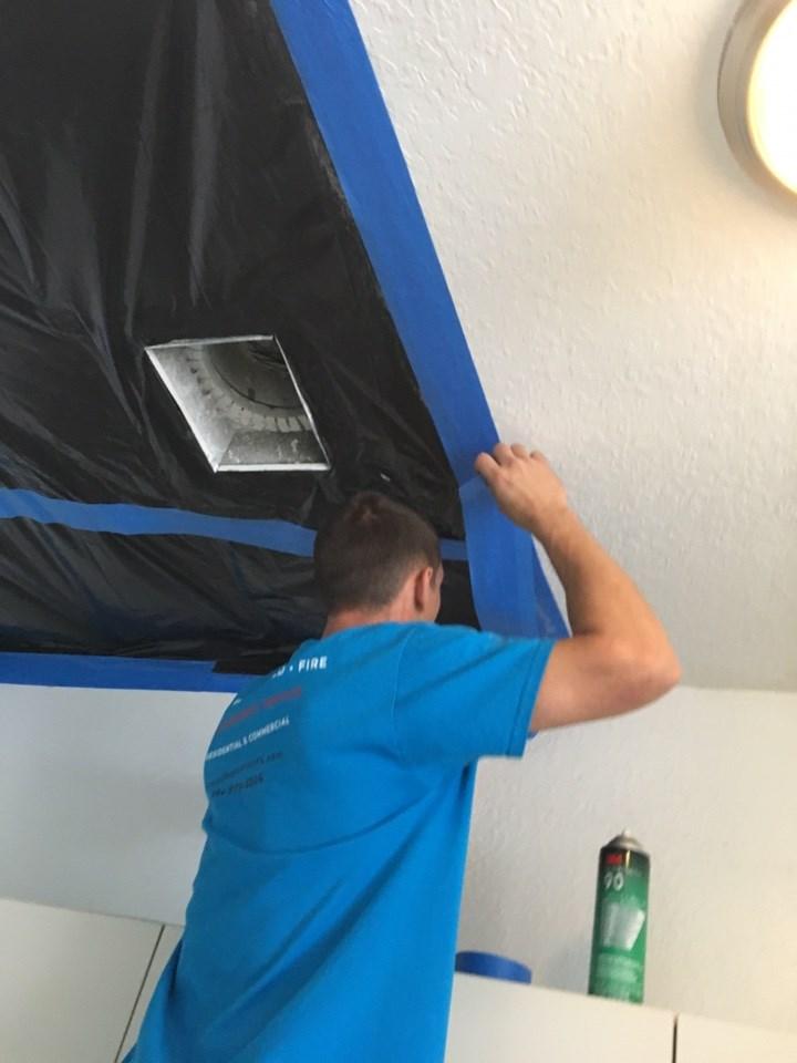 water damage restoration technician in naples florida home
