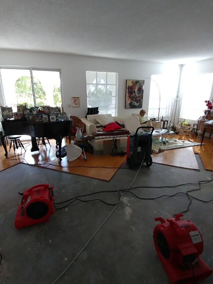 water damage drying in weston florida home
