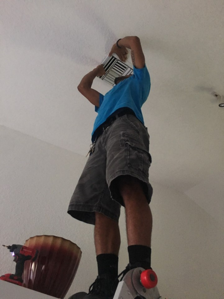 water damage restoration technician in fort myers florida home