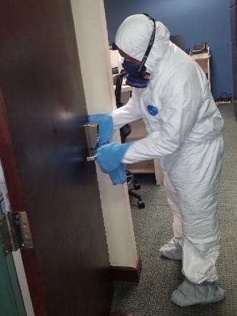 coronavirus disinfection at an office in florida