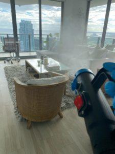covid-19 disinfection in a miami apartment